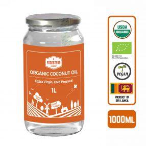 Foodsterr Organic Coconut Oil - Virgin Cold Pressed, 1L