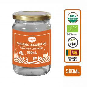 Foodsterr Organic Coconut Oil - Virgin Cold Pressed, 500ml