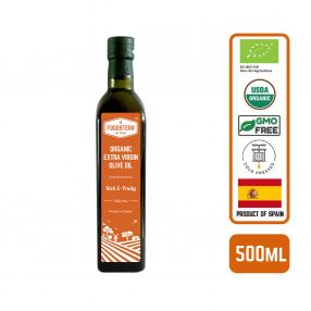 Foodsterr Organic Extra Virgin Olive Oil - Cold Pressed, 500ml (12pc/case)