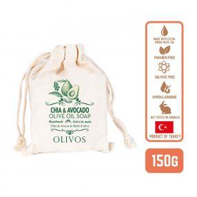 Olivos Olive Oil Chia & avocado Soap, 150g