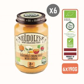 Rudolfs Baby Organic Vegetable Cream Soup With Cheese 8+ Months Carton.jpg