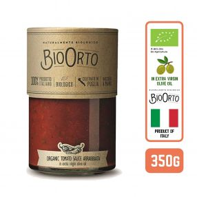 BioOrto Italian Organic Tomato Sauce Arrabbiata in Extra Virgin Olive Oil