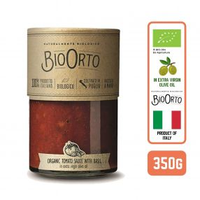 BioOrto Organic Pasta Sauce - Tomato & Basil , 350G