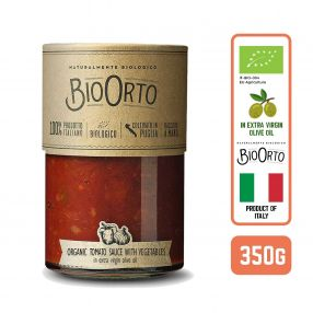 BioOrto Italian Organic Toamto Sauce with Vegetables in Extra Virgin Olive Oil