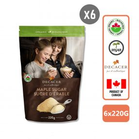 Decacer Organic Maple Sugar, 220g Carton (6 PCS)