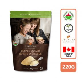 Decacer Organic Maple Sugar, 220g