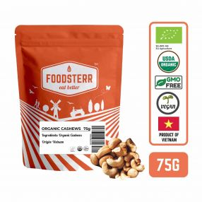 Organic Cashews, 75 grams