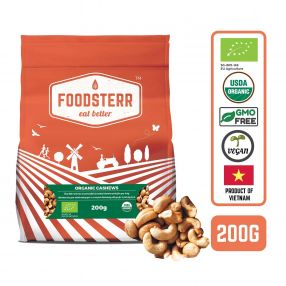 Organic Cashews, 200 grams