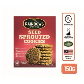 Rainbows Sprouted Seed Sprouted Cookies with Chia and Flax Seeds
