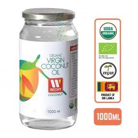 Organic Coconut Oil - Virgin Cold Pressed, 1L Case (6 Btl)