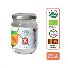 Organic Coconut Oil - Virgin Cold Pressed, 230ml Case (12 Btl)