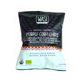 Bags Organic Quinoa & Sesame Purple Corn Chips 37x75gm