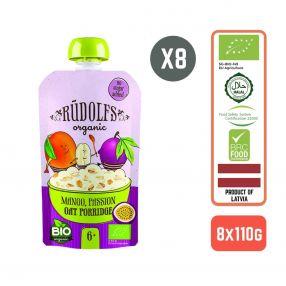 Rudolfs Baby Organic Mango Passion Oat Porridge 6+ Months (8 pcs)