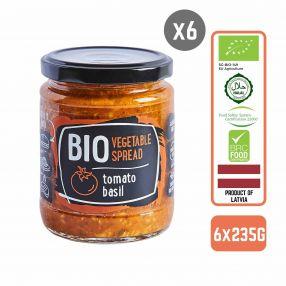 Rudolfs Organic Vegetable spread - Tomato & Basil (Gluten Free) Carton (6 Bottles)