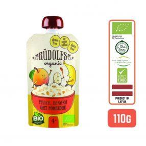 Rudolfs Baby Organic Peach Banana Oat Porridge 4+ Months