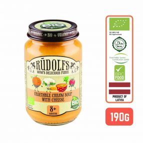 Rudolfs Baby Organic Vegetable Cream Soup With Cheese 8+ Months