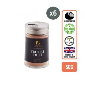 Truffle Hunter Black Truffle Dust, 50g (6 Bottles)