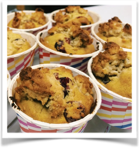 Cranberry Oat Crumble Muffin